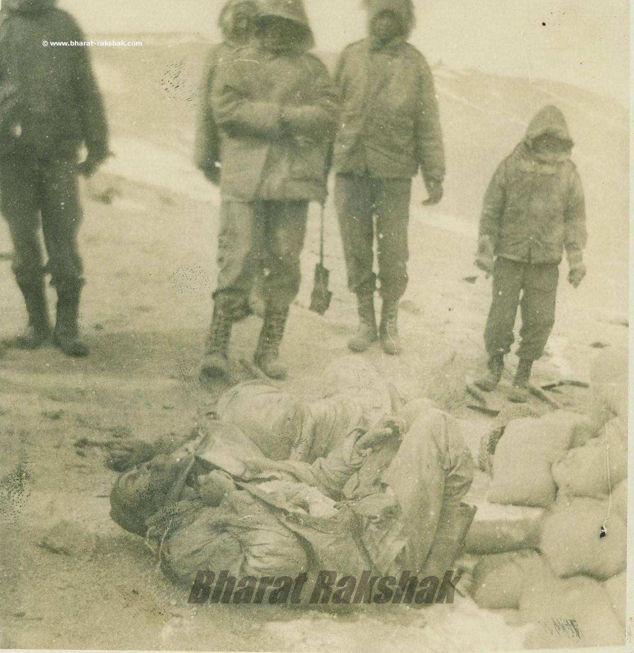 Frozen bodies of 13 Kumaon soldiers who fought and died together.