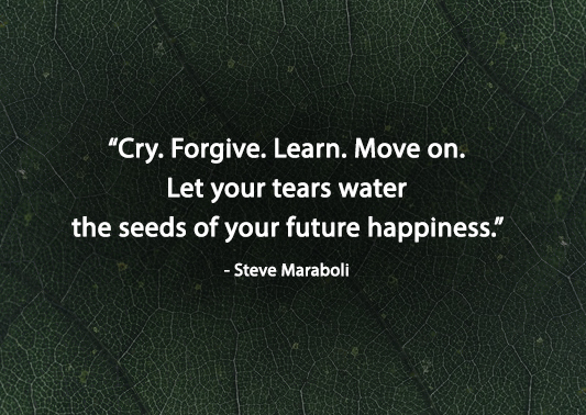 Motivational quotes by Steve Maraboli about moving on for future